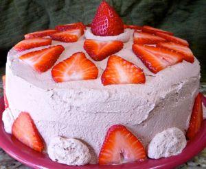 Chocolate Cake Chocolate Whipped Cream Frosting-NerdyBaker.wordpress.com
