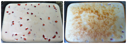 Before baking and after baking...