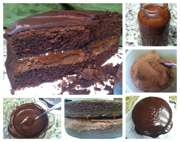 Look! Proof I can make a pretty ganache.  Unlike my last attempt.