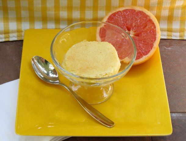 Grapefruit Souffle Pudding via NerdyBaker.wordpress.com