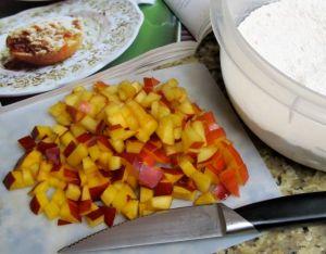 Nectarine Cobbler Muffins via NerdyBaker.wordpress.com
