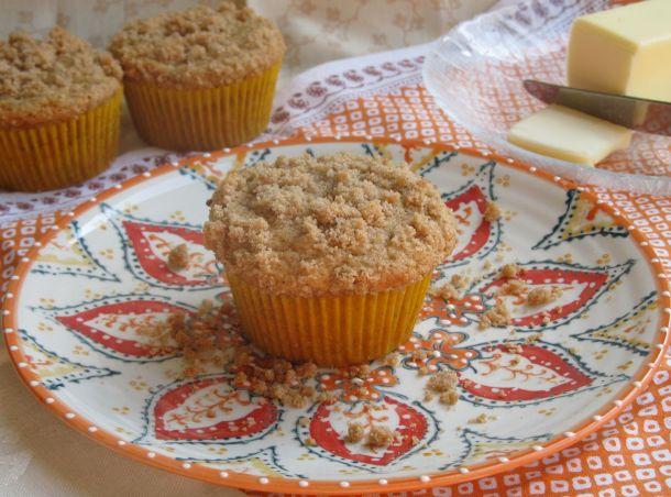Nectarine CobblerMuffins via NerdyBaker.wordpress.com