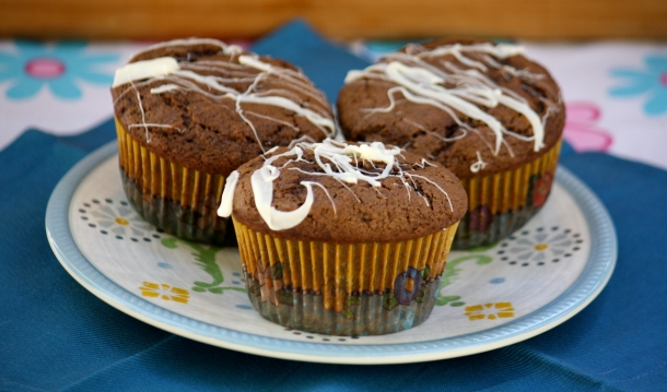Chocolate ChocolateChocolate Chip Muffins