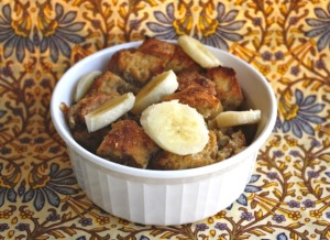 Banana Bourbon Bread Pudding